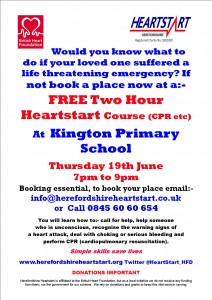 KINGTON PRIMARY POSTER 19TH JUNE 2014
