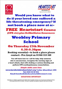 POSTER WEOBLEY 27TH NOVEMBER 2014