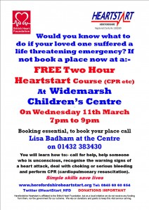 WIDEMARSH CHILDREN'S CENTRE POSTER 11TH MARCH 2015