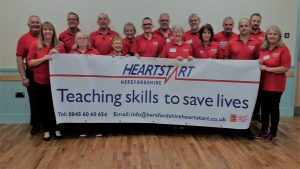 Volunteers from Herefordshire Heartstart recently updated their training at an event for those involved in the delivery of courses.