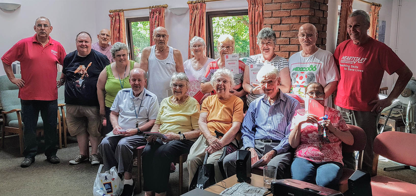 Heartstart course at Arkwright Court, Leominster